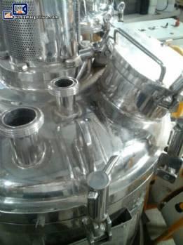 Reactor de 140 litros con agitador y homogeneizador acero inoxidable 316 L Inoxil