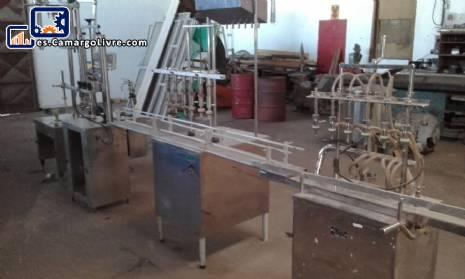 Empaquetador lineal con 6 boquillas de acero inoxidable