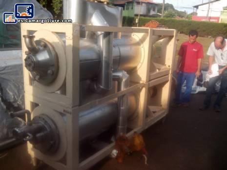 2 sistemas de frío raspadores para producción de helado